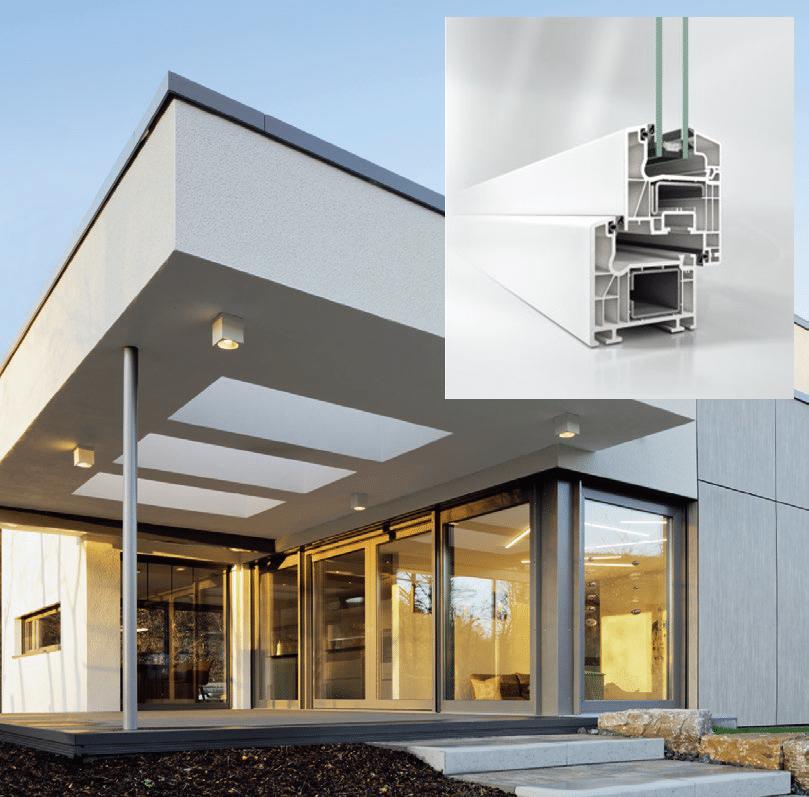 ventana practicable pvc Sistema Schüco Living