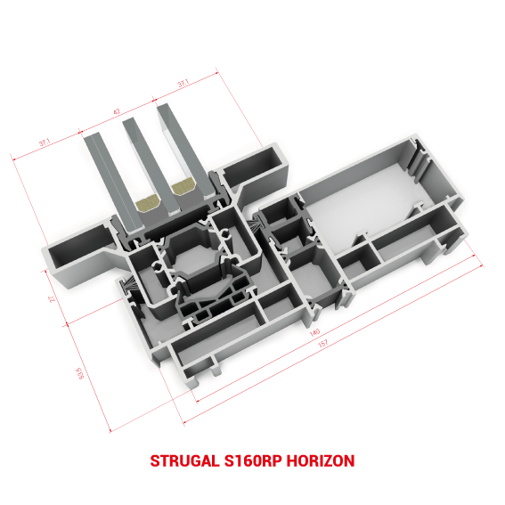 Corredera aluminio S90RP